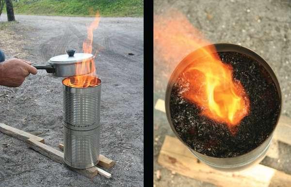 TN40 lit cookstove 2-can