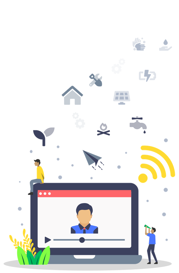 ECHOcommunity members participate in an online video chat
